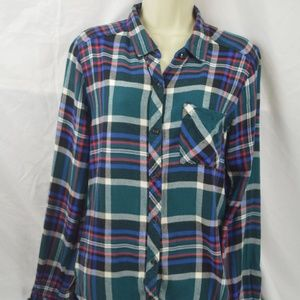 Abercrombie & Fitch Womens Paid Flannel Shirt L